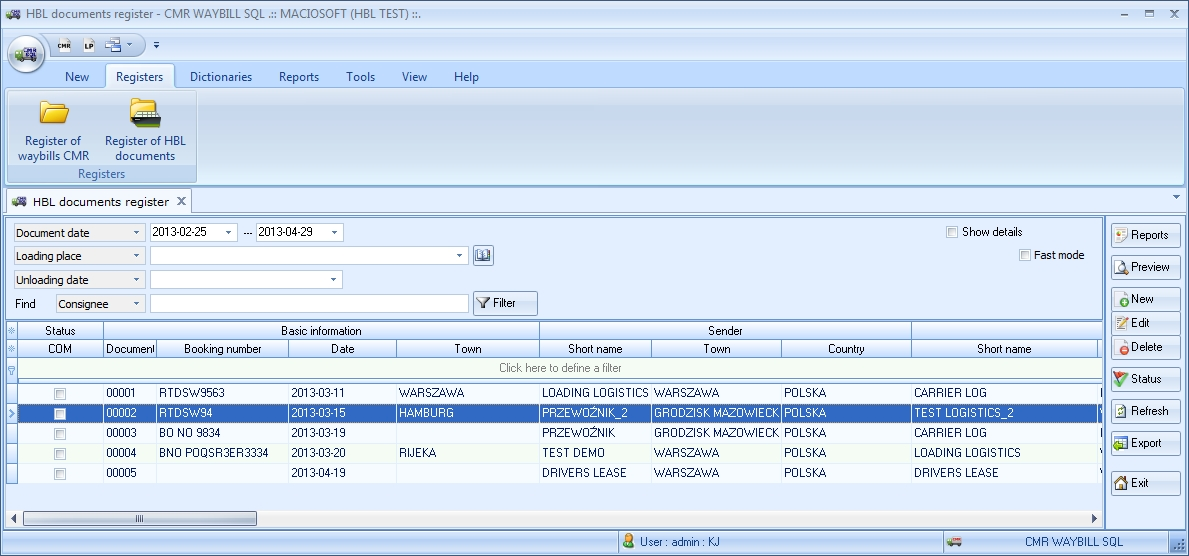 CmrHbl Sql   Cmr Consignment Note  Software For Transport